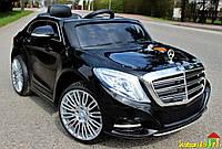 Детский электромобиль  Mercedes-BENZ S600: 90W, 8 км/ч, EVA, кожа, 2.4G - Черный- купить оптом