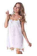 Женская ночная сорочка белая из батиста Лилия Suavite