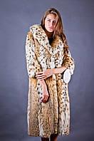 Шуба натуральная женская из меха рыси Италия 2105