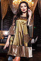 Платье бархатное с сеточкой