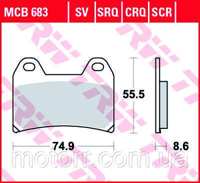 Тормозные колодки TRW / LUCAS MCB683