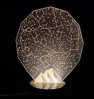 Звездное небо: Оптический обман, превращающий 2D светильник в 3D