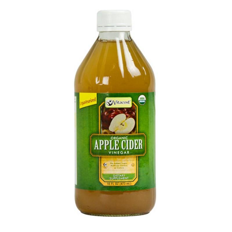 Яблочный уксус с мякотью, натуральный, органический,  473 мг, США