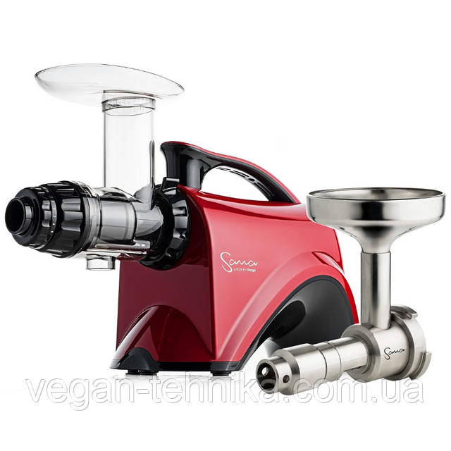 Шнековая соковыжималка Sana Juicer by Omega EUJ 606 Red + Sana Oil Extractor EUJ-702