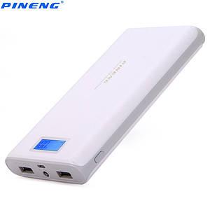 Power Bank зарядное Pineng PN-920 20000мAh Оригинал. Емкость реальная! LCD дисплей. Цвет белый