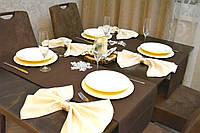 Раннер ( дорожка на стол) Канзас коричневый 145*45 см