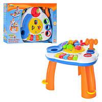 Столик игровой 0812 NL на ножках, пианино, сортер, шарики, молоточек, в кор-ке, 55-39-10см