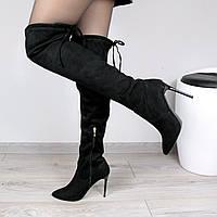 Сапоги женские ботфорты Tina черные, осенняя обувь