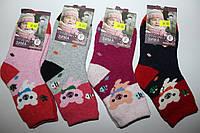 Детские махровые носки Корона, ангора+шерсть, девочка, размер 16-18