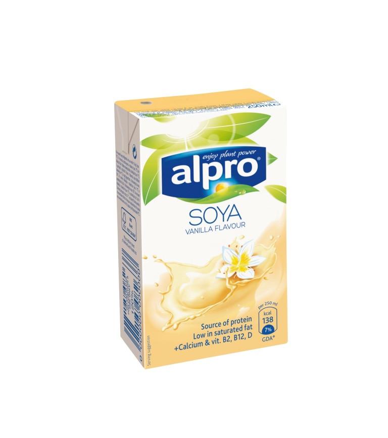 Соевое молоко ванильное Alpro, 250мл