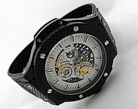 Механические часы HUBLOT - Ferrari - с автозаводом, каучуковый черный ремешок