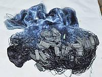 Сеть рыболовная 3м*100м одностенка (обычный обжимной груз)Ø40, 45 Синяя , фото 1