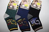 Детские махровые носки Корона, ангора+шерсть, мальчик, размер 16-18