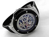 Механические часы HUBLOT - Techno - с автозаводом, каучуковый черный ремешок
