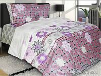 Полуторное постельное белье Фортуна, ТМ Блакит,100% хлопок(бязь)