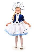 Новогодний костюм для девочки Снегурочка Морозко с короной