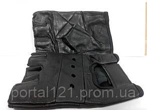 Атлетичні рукавички чоловічі короткі шкіра