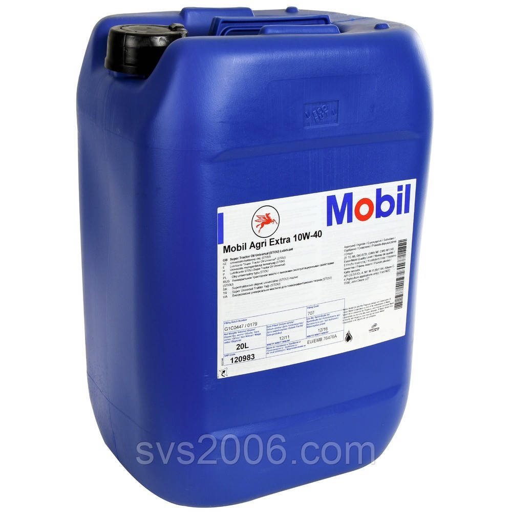 Масло моторное MOBIL AGRI EXTRA 10W-40