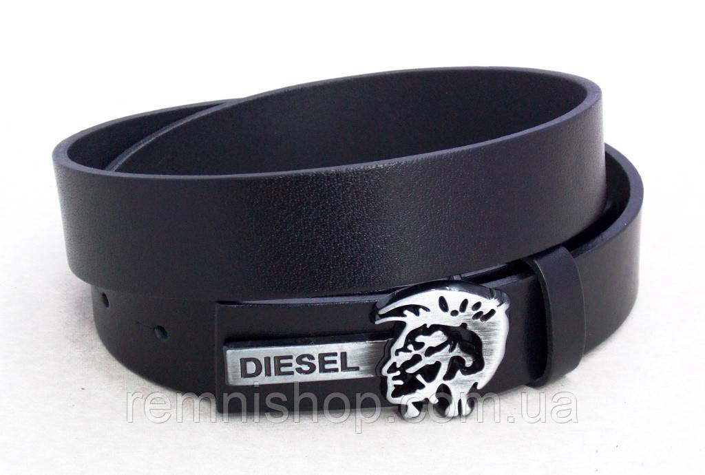 Ремень узкий кожаный Diesel