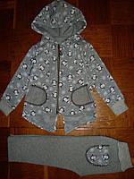 Теплый детский костюм с пингвинами