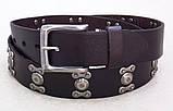 Кожаный мужской ремень с заклепками G-STAR , фото 3