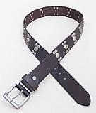 Кожаный мужской ремень с заклепками G-STAR , фото 4