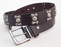 Кожаный мужской ремень с заклепками G-STAR , фото 1