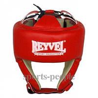 Шлем боксерский/для бокса Reyvel, сверху шнуровка, кожа, разн. цвета, L