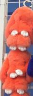 Брелок меховой кролик оранжевый