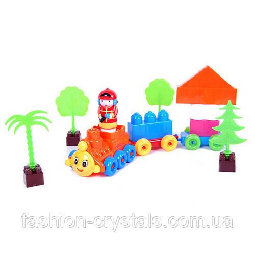 Детский конструктор поезд