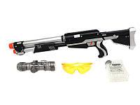 Винтовка детская 6219, стреляет разрывными пулями (орбизами) и присосками, игрушечное оружие