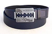 Ремень кожаный синий для джинс John Richmond, фото 1