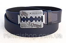 Ремінь шкіряний синій джинс для John Richmond