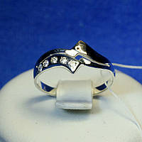 Серебряное кольцо покрытое золотом кс 335з.нак, фото 1