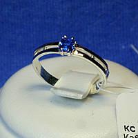 Серебряное кольцо с золотой вставкой кс 1220с з.нак