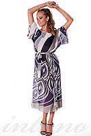 Длинная женская пляжная туника с поясом Suavite