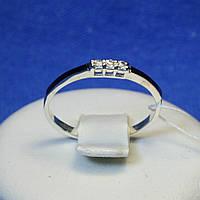 Серебряное кольцо с золотыми вставками кс 1226з.нак