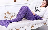 Плед акриловый Русалка Purple