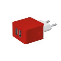 Сетевая зарядка TRUST URBAN  Dual Smart Wall Charger