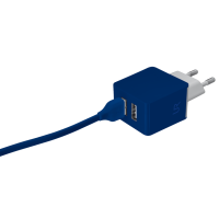 Сетевая зарядка URBAN REVOLT DUAL SMART WALL CHARGER (Синий)