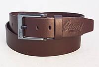 Коричневый ремень кожаный мужской BRIONI, фото 1