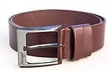 Коричневый ремень кожаный мужской BRIONI, фото 2