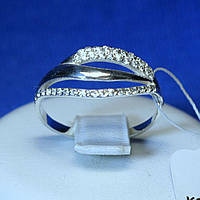 Женское серебряное кольцо с камнями циркона кс 1253