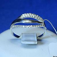 Срібне кільце з цирконом кубічним кс 1253, фото 1