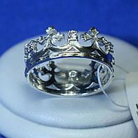 Серебряное кольцо Корона кс 1245
