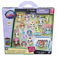 Литл Пет Шоп LPS Игровой набор зверюшек-малышей 15 петов (в ассорт.) Littlest Pet Shop Hasbro