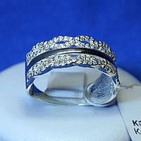 Ажурное серебряное кольцо Косичка кс 1241
