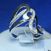 Серебряное кольцо с цирконами кубическими кс 1203