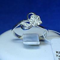Серебряное кольцо с цирконием Цветок кс 1176