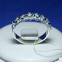 Серебряное кольцо с синим фианитом кс 1239с, фото 1